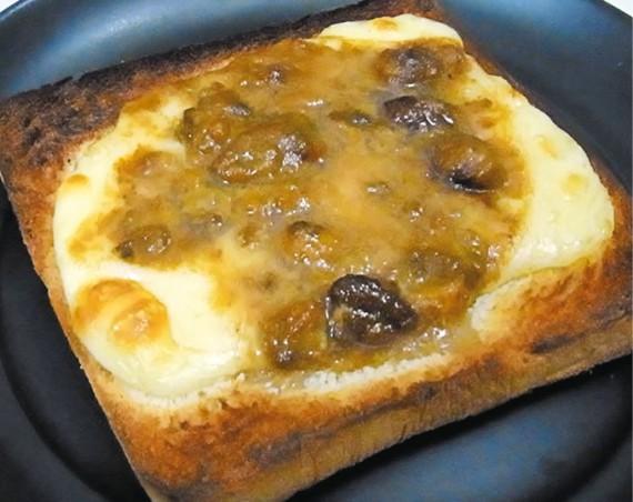 うに&チーズのミニトースト