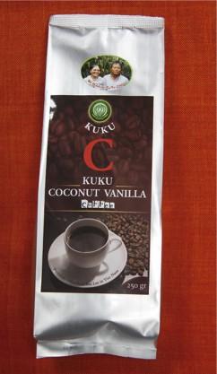 「ココナッツヴァニラ」フレーバーの「ククコーヒー」新発売