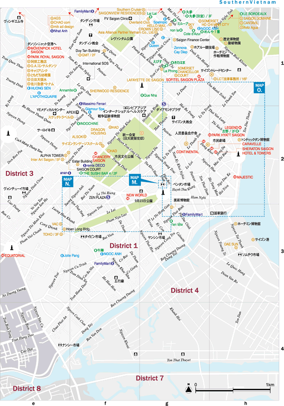 ホーチミン市地図