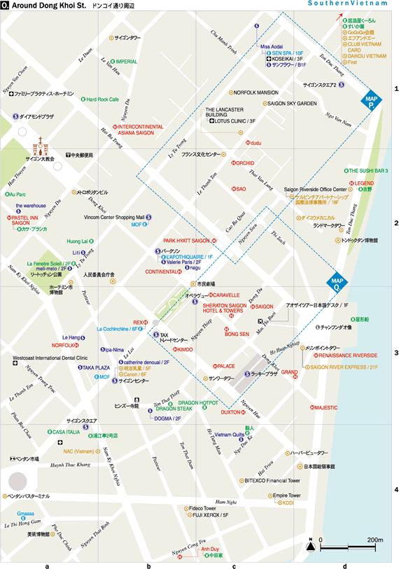 ドンコイ通り周辺地図