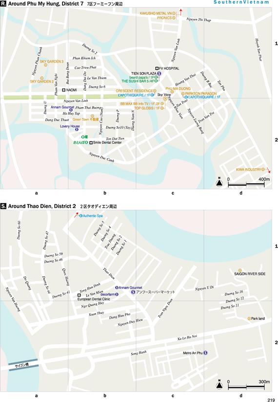 2区タオディエン周辺地図