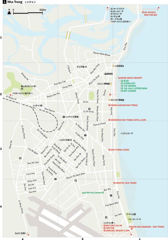 ニャチャン地図