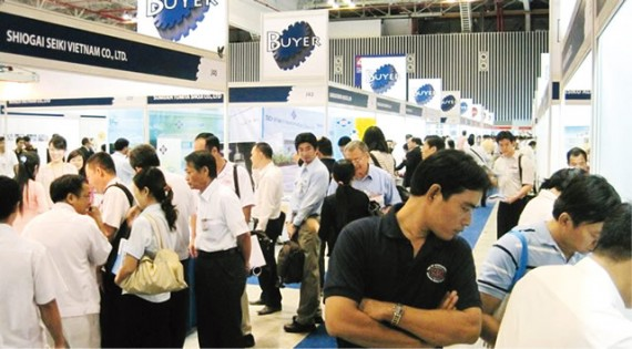 ジェトロが主催する「部品調達展示商談会」が開催