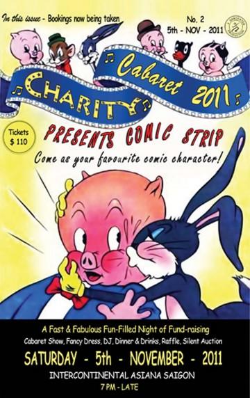 ドレスコードはコミックキャラ「チャリティーキャバレー」開催