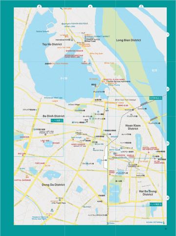 ベトナム北部地図/ハノイ広域・ハノイ南部・ハノイ西部・旧市街周辺