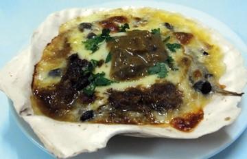 ホタテのチーズうに乗せオーブン焼き