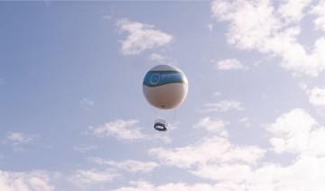 気球飛行で海岸線
