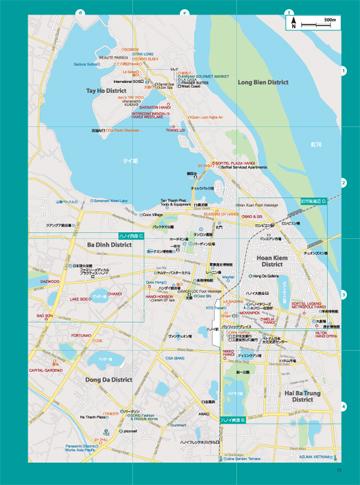 ベトナム北部地図