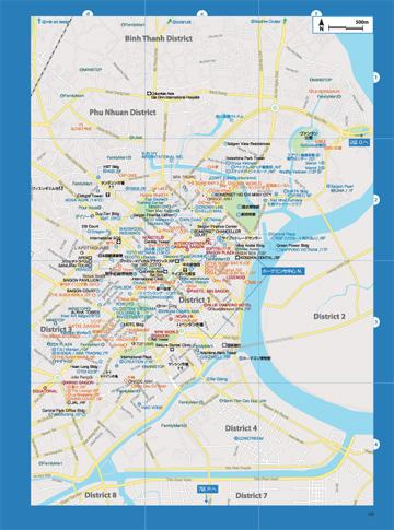 ベトナム南部地図