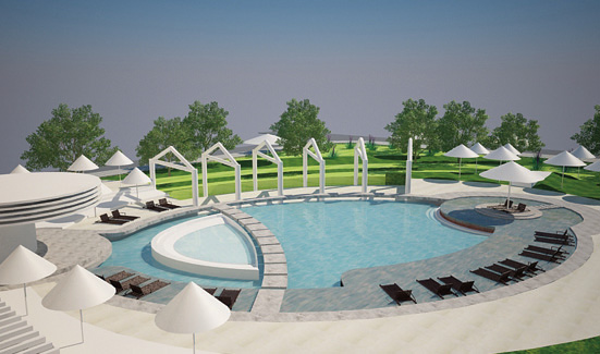 Beach Garden restaurant & outdoor swimming pool