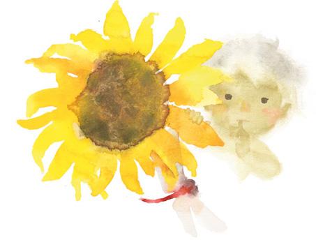ひまわりと赤ちゃん201310