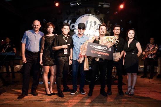 Hard Rock Cafe HCMC crowns its BARocker winner Luu Hy Thanh