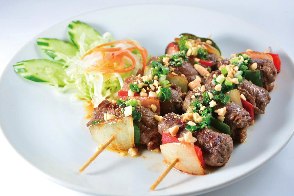 bo xien_牛肉と玉ねぎの串焼き