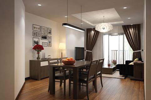 Living Room (ダークブラウン色の家具)
