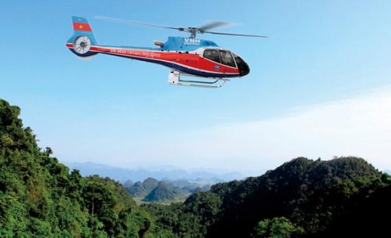 ダナンでヘリコプターツアー