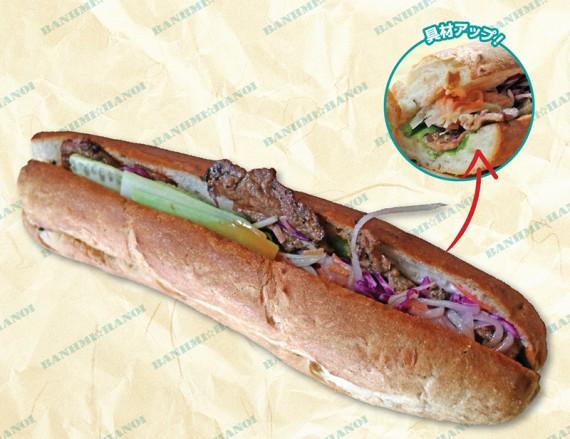 焼肉タマリンドソースバインミー/Bánh Mì Thịt Nướng Sốt Me 2万5000VND