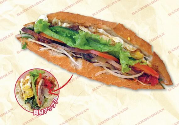 バインミータップカム/Bánh Mì Thập Cẩm 2万5000VND