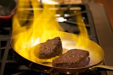 3.Flambe beef